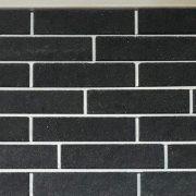 """Кирпич лицевой Brick Premium коллекция """"Черный"""" колотый"""