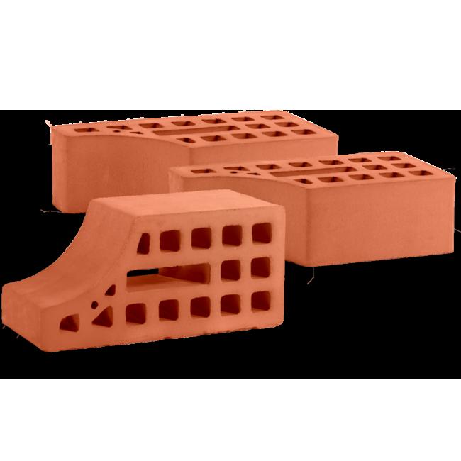 Кирпич керамический карнизный утолщенный (вогнутый)