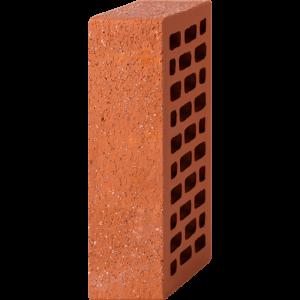 Кирпич лицевой красный 1НФ — Старая стена с песком